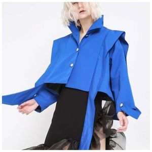 Jackets & Blazers - 🆕 Blue Techno Silk Avant-Garde Jacket C32